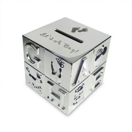 Personalised ABC Money Box - It's a Boy
